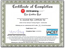 360 Training Certificate of Completion