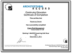 Architectural Record Continuing Education Certificate of Completion