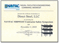 Naval Facilities Engineering Command Certificate of Attendance
