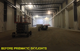 Before The Installation Of New Sustainable Prismatic Skylights