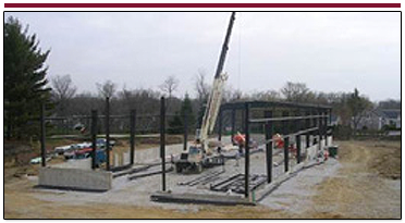 Early Stage of Construction of Pre-engineered Metal Building