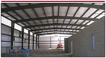 Work in Progress of Commercial General Contractor Project of a Pre-engineered Metal Building