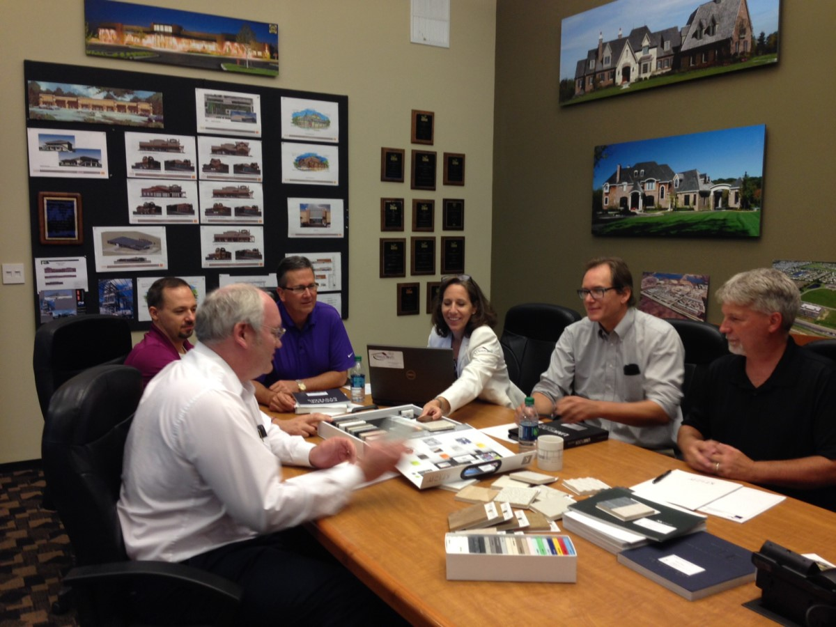 Rosemary Swierk, President of Direct Steel, presiding over a project meeting with prime stakeholders