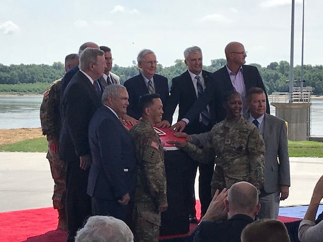 Celebration and Ribbon Cutting for the Olmsted Locks and Dams - Prime Contractor, Direct Steel