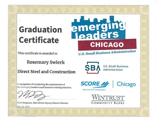 Rosemary Swierk, President of Direct Steel and Construction, Emerging Leaders Graduate