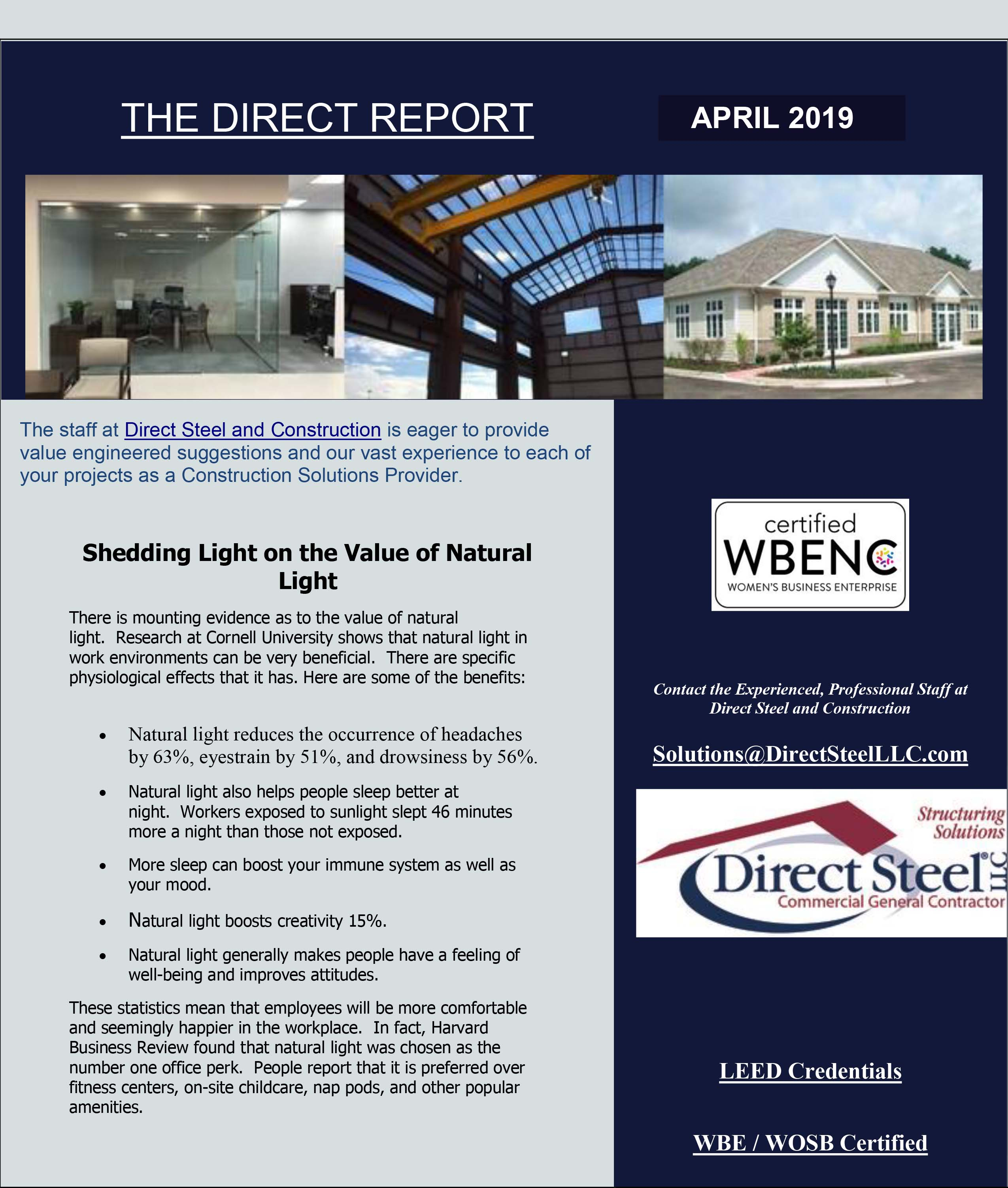 The Direct Report April 2019 Page 1