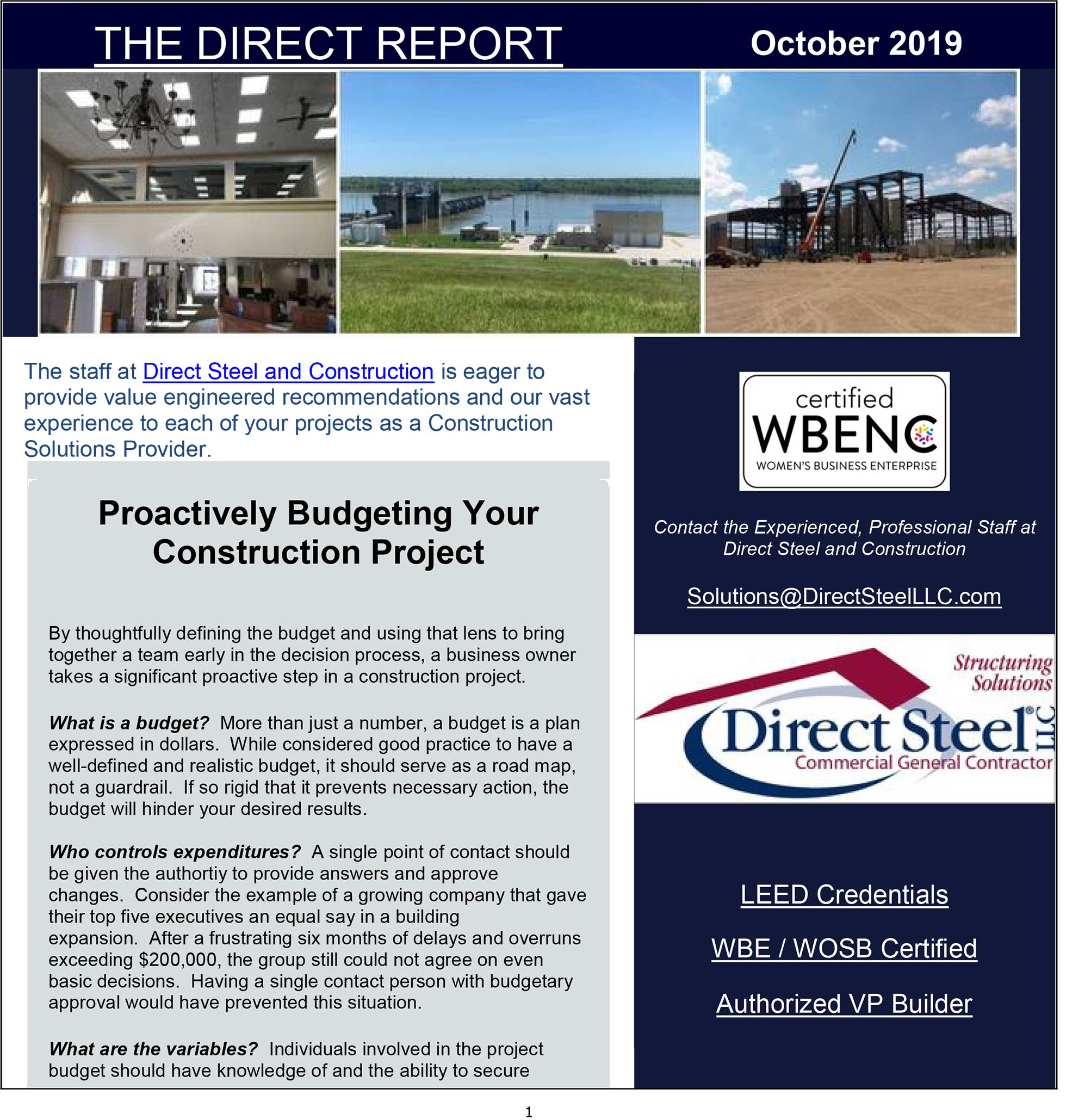 October Quarterly Newsletter