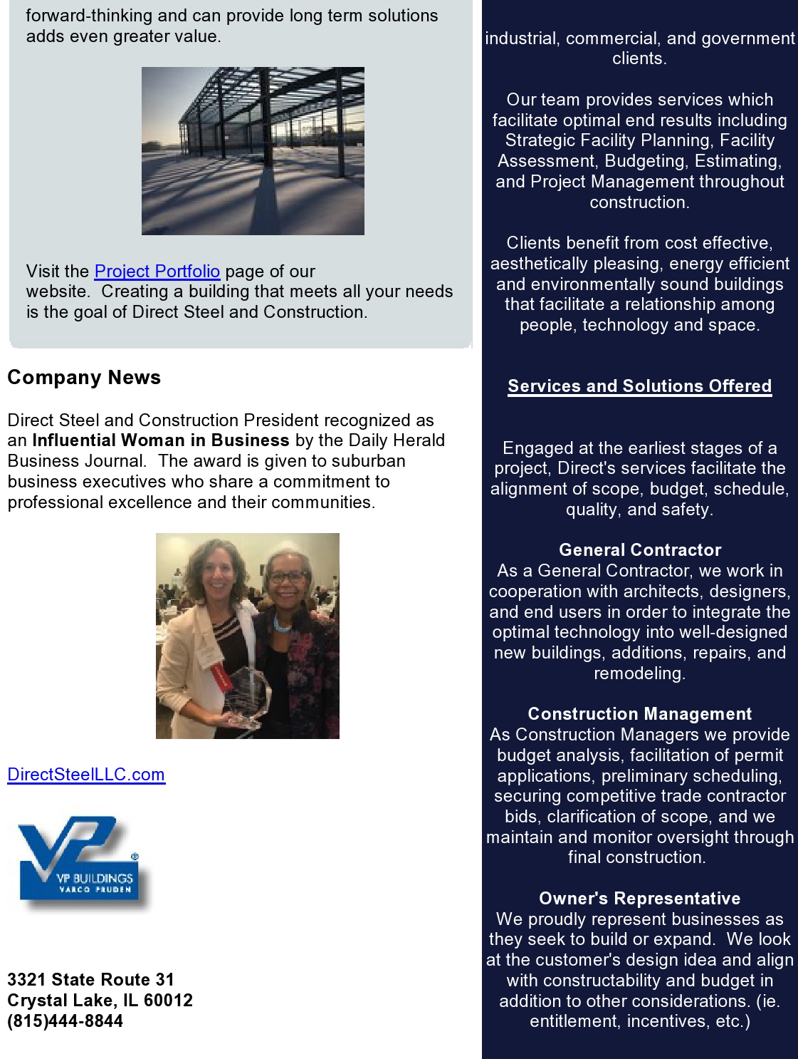 January Quarterly Newsletter pg 2